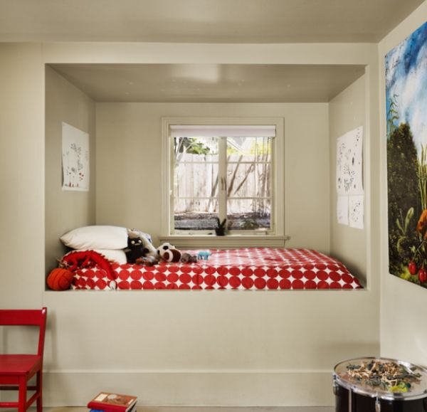 View In Gallery Modern Kids Room Featuring An Alcove Bed Near The Window Its Probably This