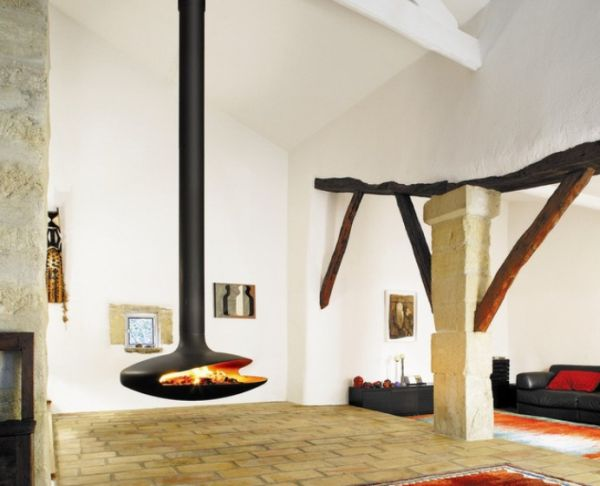 Hanging Fireplaces – Beautiful And Versatile With A Touch Of Grandeur