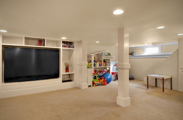 Basement ideas for kids area Kids Playroom Homedit Basement Design Ideas For Child Friendly Place