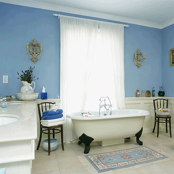 Serene blue bathrooms ideas inspiration for Blue white bathroom ideas