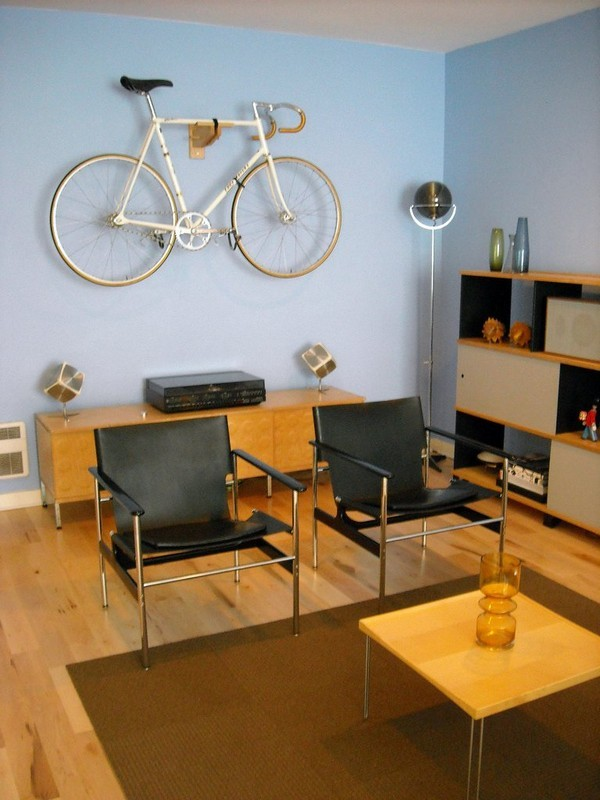 High Quality Creative Ideas That Show You How To Park Your Bike Indoors Ideas