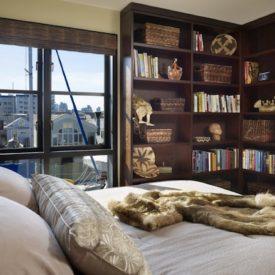 bookshelf bedroom