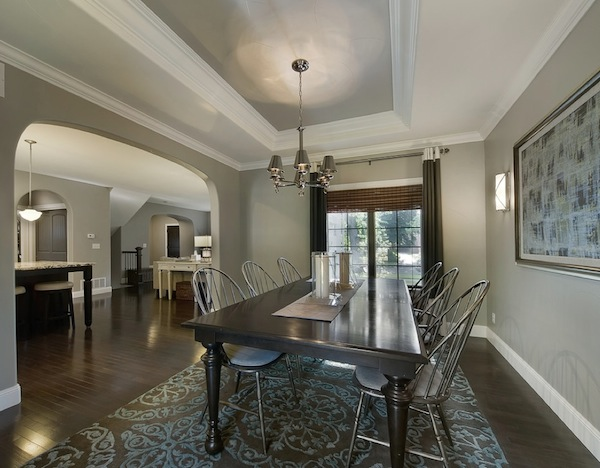 ceiling color dining room idea