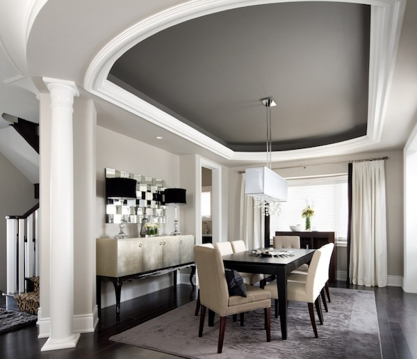 ... ceiling color dining room