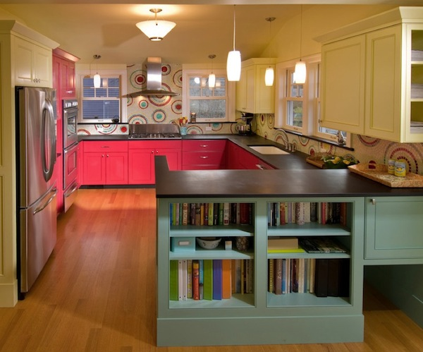 coral kitchen cabinets