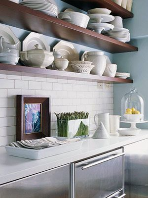 Open Shelving In The Kitchen Farmhouse Cottage Style