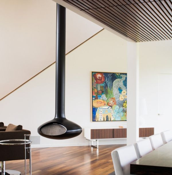 Hanging Fireplaces Beautiful And Versatile With A Touch