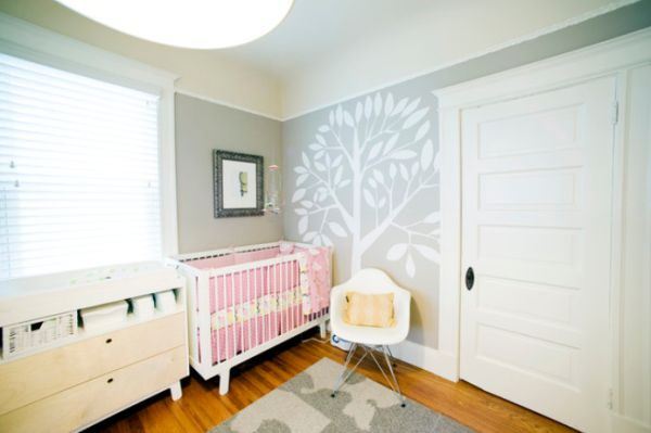 Baby Room With Tree On Wall