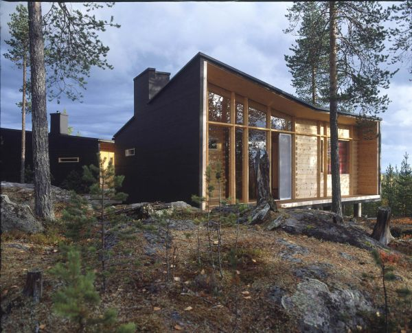 A charming log house in the wilderness of lapland - Wooden vacation houses nature style ...