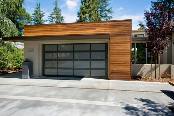 Double garage design ideas for Cost to build mid century modern home