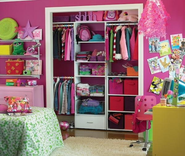 girls room closet