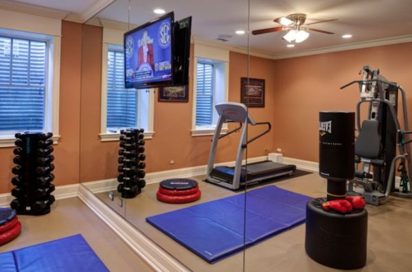 Home gym designs that will keep you motivated in winter for Used gym mirrors