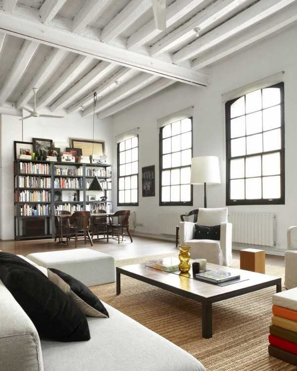 Loft Window Coverings Former Textile Workshop Now A Stylish Loft Apartment In Barcelona
