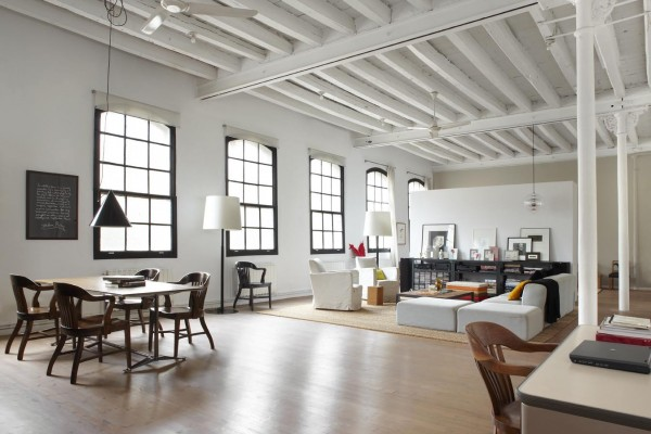 former textile workshop now a stylish loft apartment in barcelona. Black Bedroom Furniture Sets. Home Design Ideas