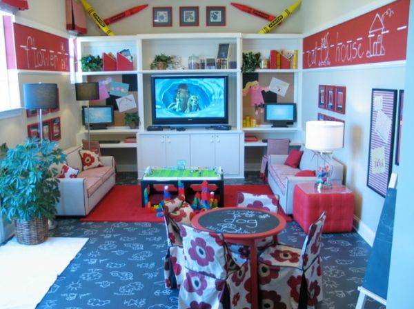 Five kids 39 playroom ideas to inspire for Playroom living room combination