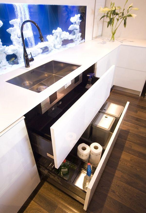 The Kitchen Aquarium U2013 An Unexpected But Inspiring Design Detail