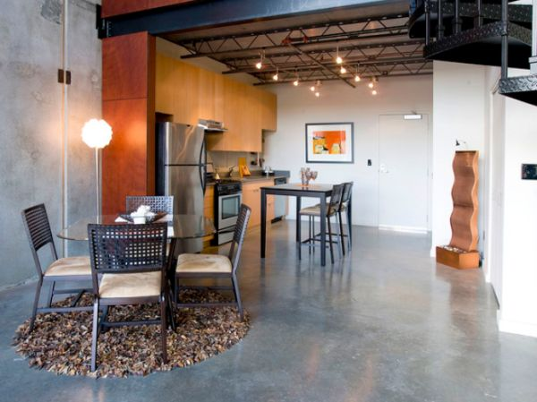 ... View In Gallery Open Space Kitchen With Concrete Floor ...