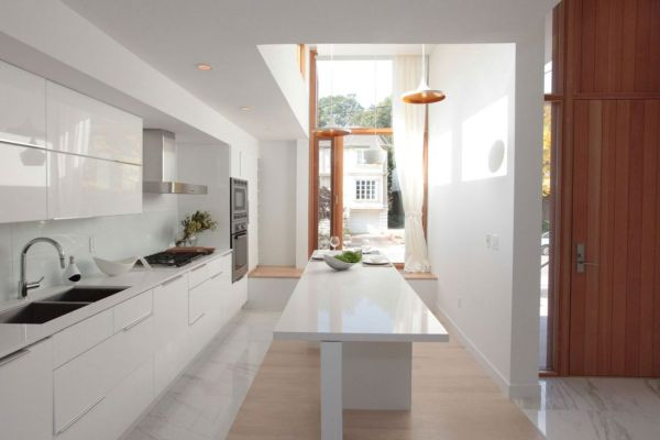 55 modern kitchen design ideas that will make dining a delight for Long narrow kitchen ideas