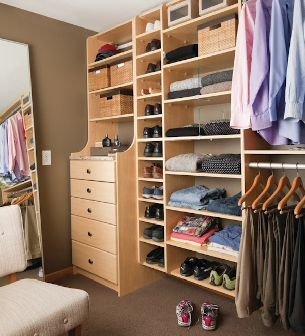 How to save closet space in your winter home for Men s walk in wardrobe