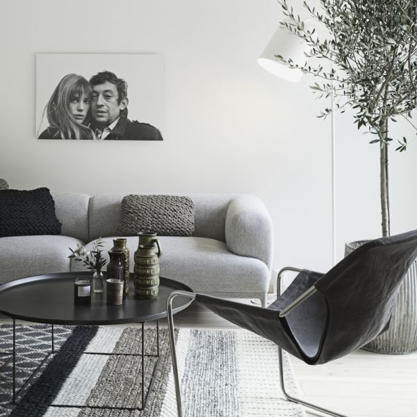 Minimalist Nordic Interior With Shades Of Grey And Natural