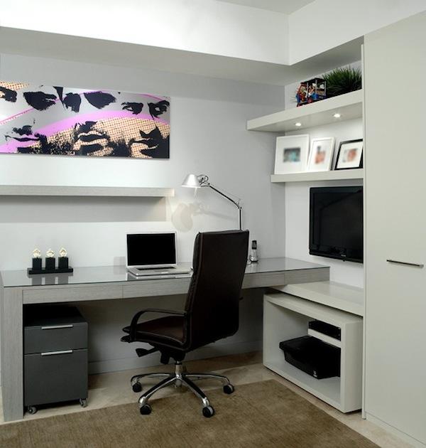 modernes Home-Office-Declutter