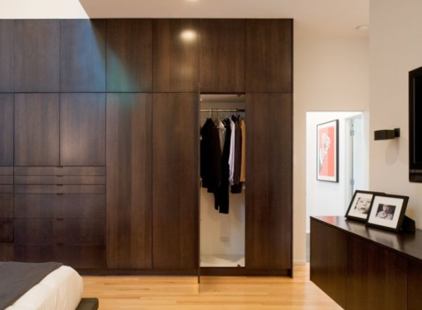 View In Gallery Modern Bedroom Closet With A Simple And Elegant Design Serene