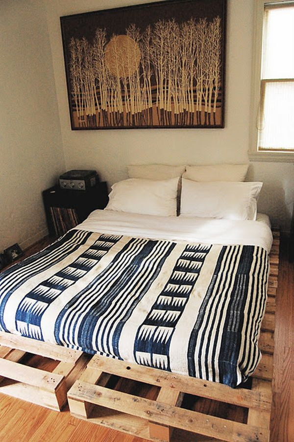 making a platform bed out of pallets | Quick Woodworking ...