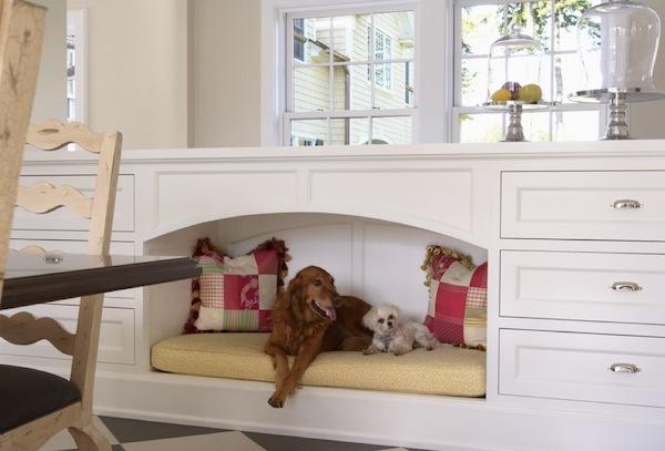 pet bed area custom builtin