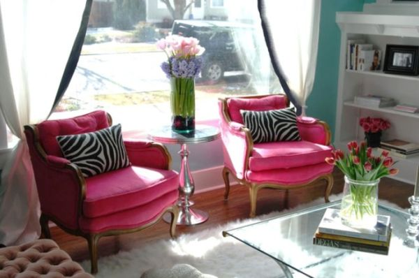 Pink Living Rooms Ideas That Are Not Overbearing