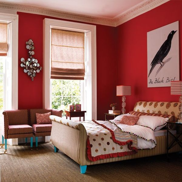 Choosing the right color for your bedroom symbolism and suggestions - Camera da letto rossa ...