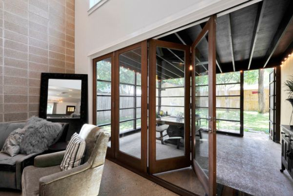 Open up your living room with folding patio doors for Retractable patio doors