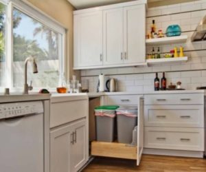 Kitchen Pull-Out Trash Bins, Both Functional And Aesthetical