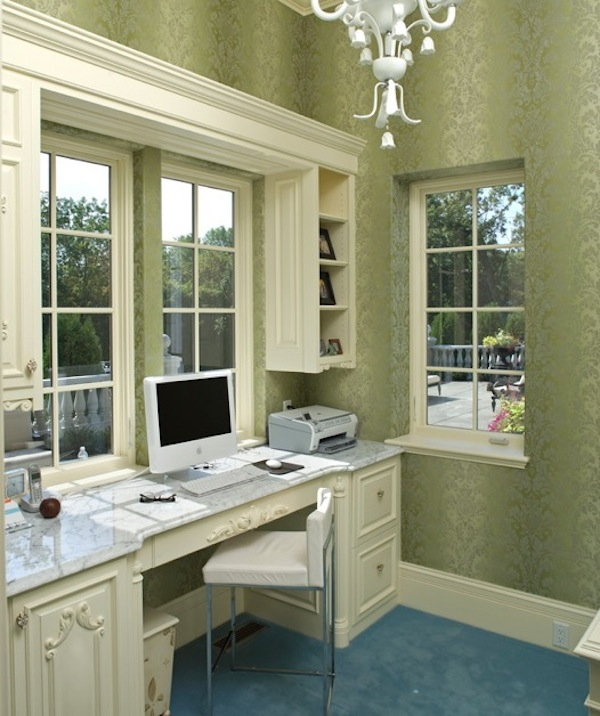 21 Feminine Home Office Designs Decorating Ideas: Easy Ways To Organize Your Cluttered Home Office