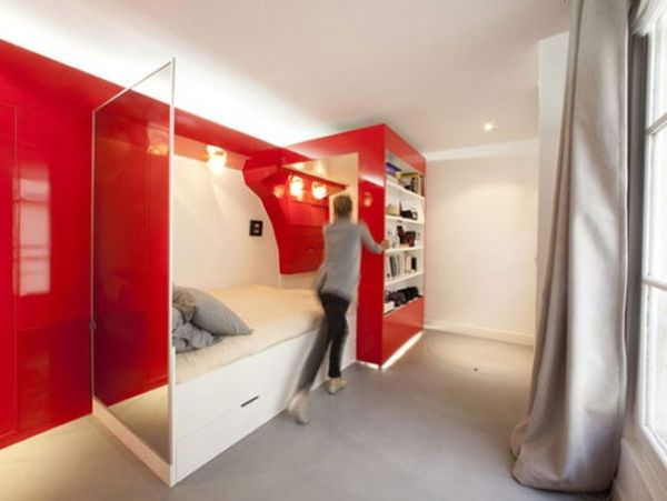 11 small apartment design ideas featuring clever and unusual furnishing strategies. Black Bedroom Furniture Sets. Home Design Ideas
