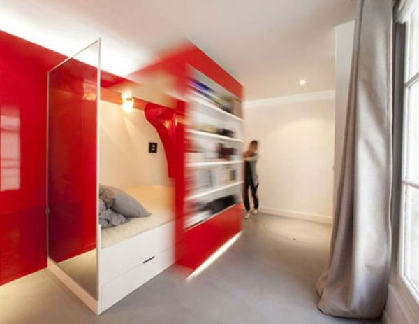 11 small apartment design ideas featuring clever and. Black Bedroom Furniture Sets. Home Design Ideas
