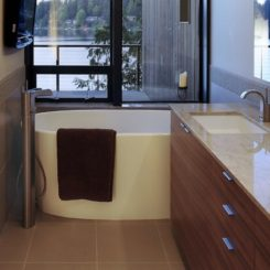 small bath sink tub