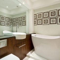small bathroom creative tile