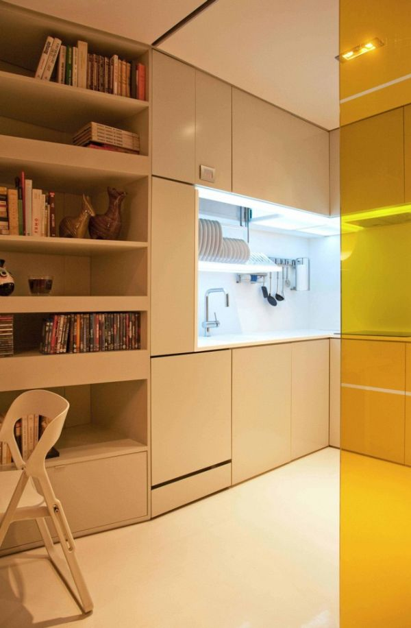 11 small apartment design ideas featuring clever and - Small space bedroom furniture ...