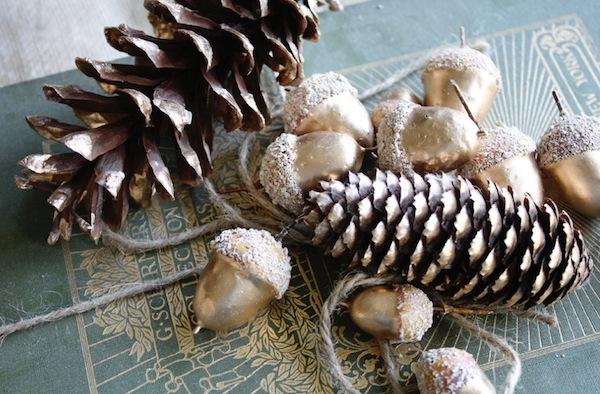 spring inpired winter decor pine cones