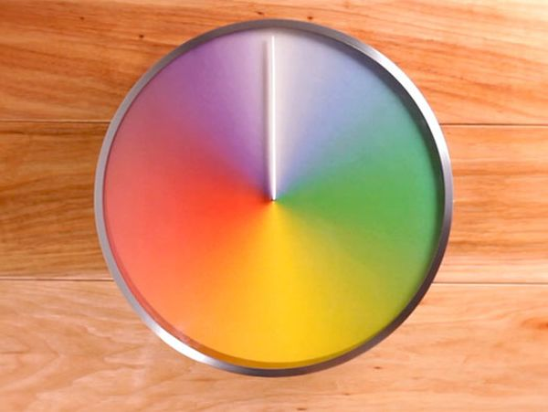 Rainbow Clock.