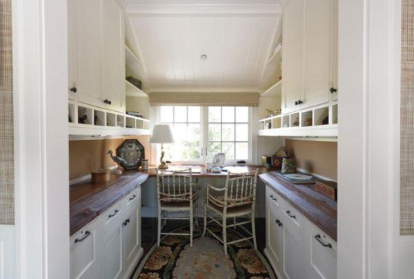30 Cozy Attic Home Office Design Ideas -> Kuchnia Zabudowana Do Sufitu