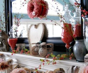 20 Gorgeous Valentine's Day Mantel Décor Ideas