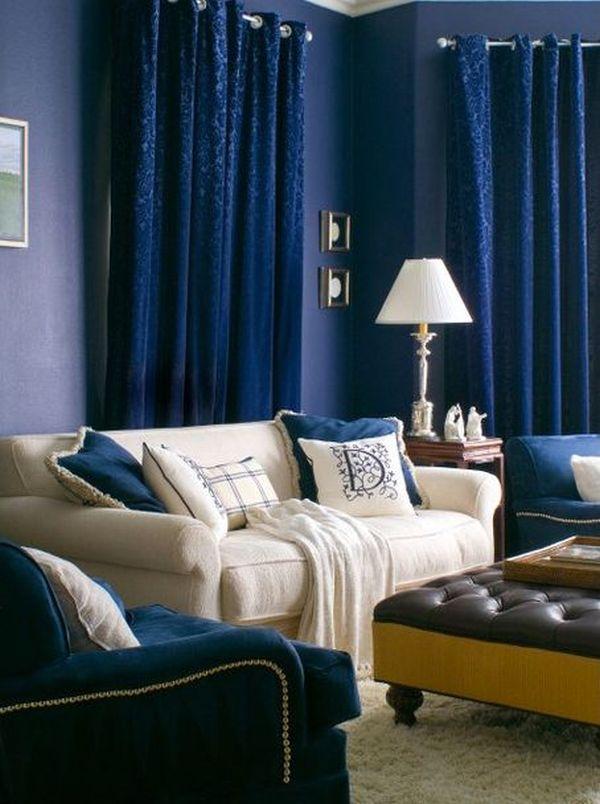 20 Blue Living Room Design Ideas: Cool Blue Living Room Ideas