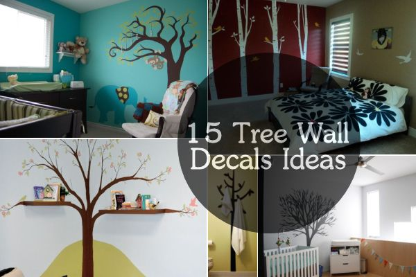 Playful And Chic Tree Wall Decals - Wall stickers for bedrooms interior design
