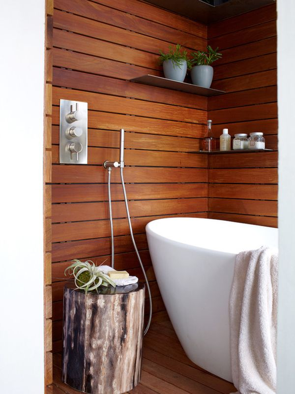 17 Chic And Elegant Wooden Bathroom Interiors