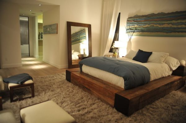 view in gallery this is a platform bed with a solid rectangular wooden - Solid Wood Platform Bed