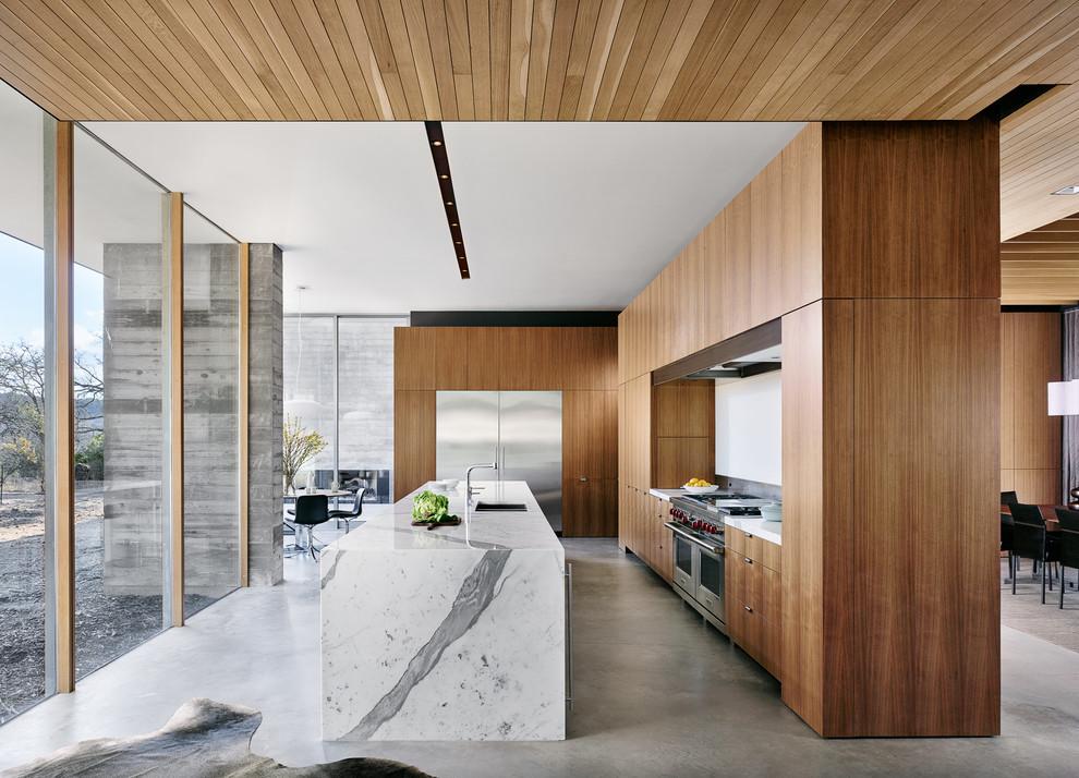 A Marble Kitchen Island