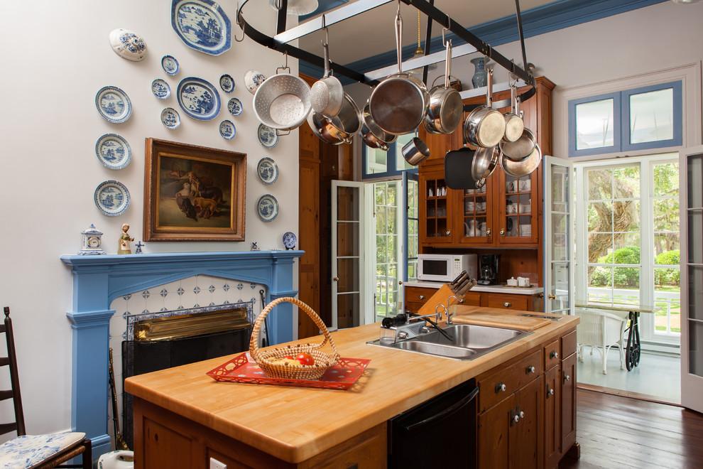 A Wooden Kitchen Island