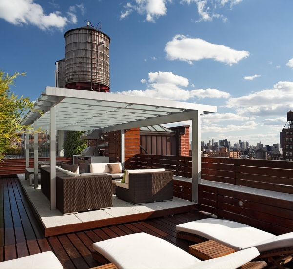15 modern roof terrace designs featuring breathtaking views for Modern roof design types