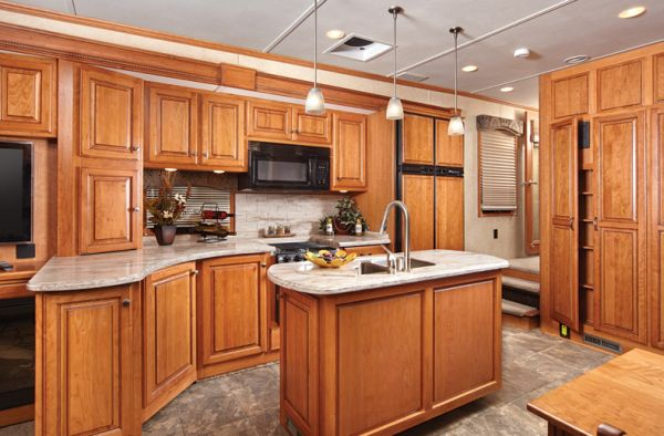 island in small kitchen luxury living on wheels 6 stunning rvs that will make you 19022